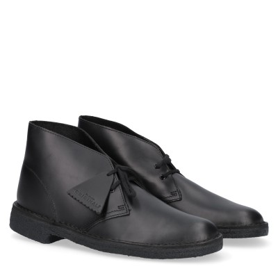 Desert Boot Black Leather