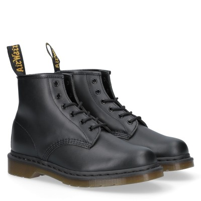 101 Nappa Black 6 Eye Boot Anfibi